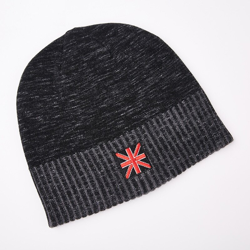 毛帽羊毛針織帽-簡約提花捲邊保暖男帽子2色73wj31【獨家進口】【米蘭精品】 1
