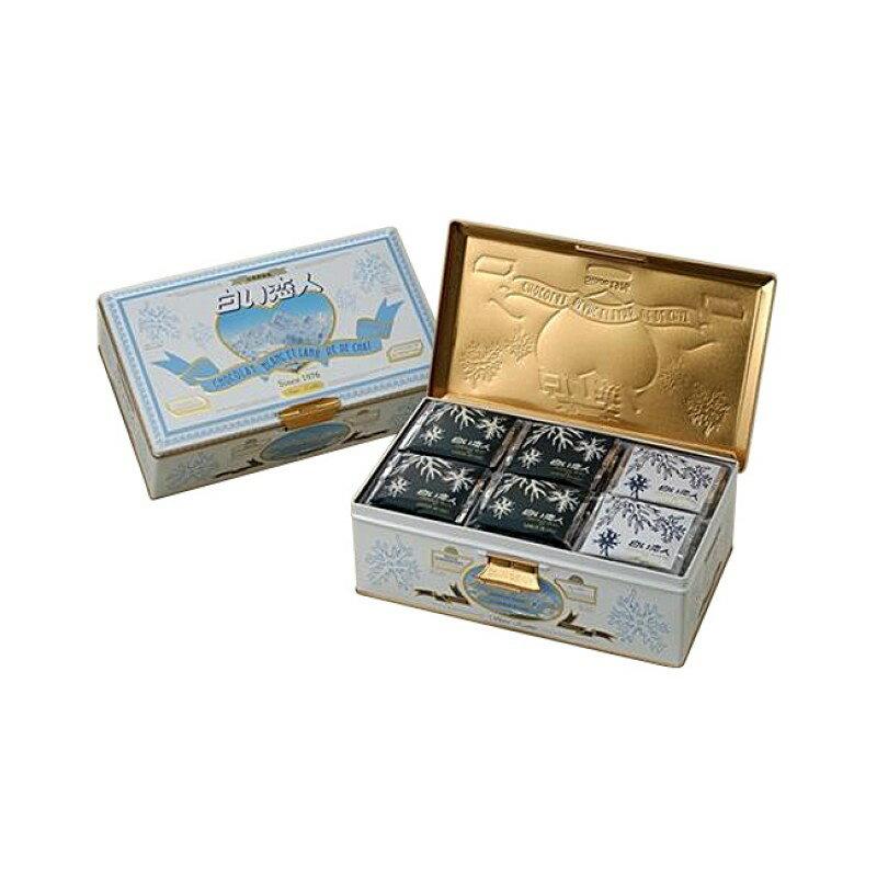 宅配免運【石屋製菓】北海道白色戀人白巧克力夾心貓舌餅乾 54枚入鐵盒裝~預購-約4 / 10左右出貨 2