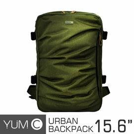 【美國Y.U.M.C. Haight城市系列Urban Backpack筆電後背包 橄欖綠】筆電包 可容納15.6寸筆電 【風雅小舖】 - 限時優惠好康折扣
