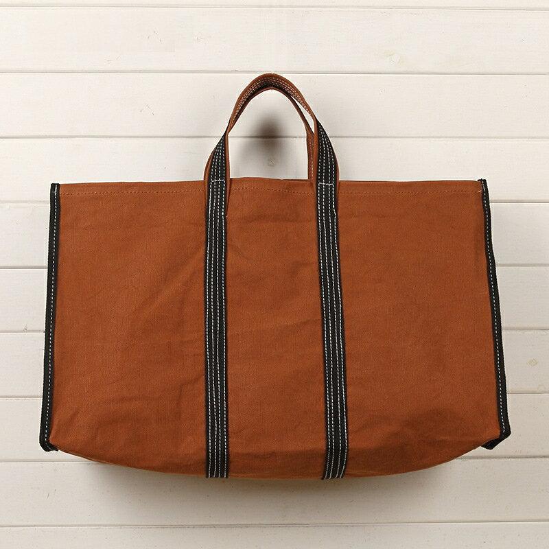 手提包帆布購物袋-撞色簡約經典大容量女包包3色73zy25【獨家進口】【米蘭精品】