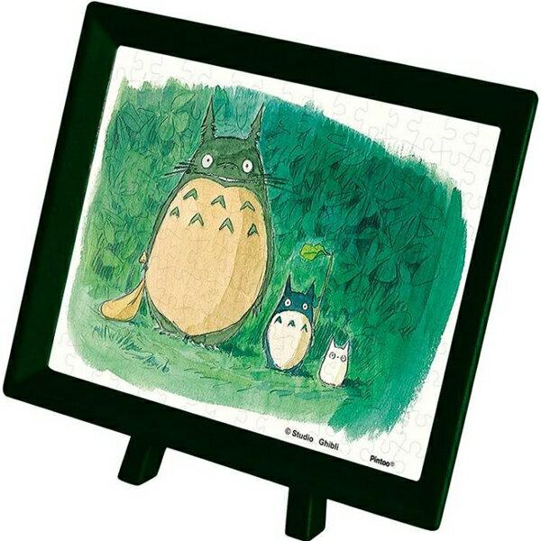 【進口拼圖】宮崎駿系列-龍貓 森林的相遇 附框架 150片塑膠迷你拼圖 MA-01