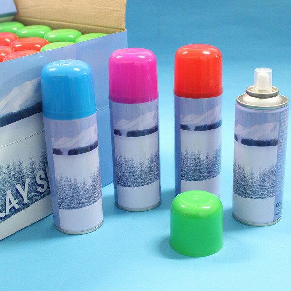 彩色噴雪花罐 聖誕噴雪罐 噴雪罐 噴玻璃雪花 85g(進口)/一罐入{促60}