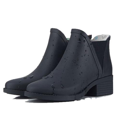 里奈子 Li-nagi:LINAGI里奈子【S692189】韓國代購短筒橡膠雨鞋女成人啞光歐美防滑切爾西雨靴