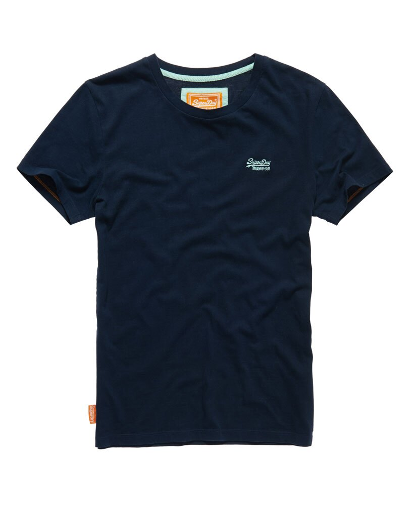 美國百分百【Superdry】極度乾燥 T恤 上衣 T-shirt 短袖 短T 經典 深藍 logo 素面 S M L XXL號 F235