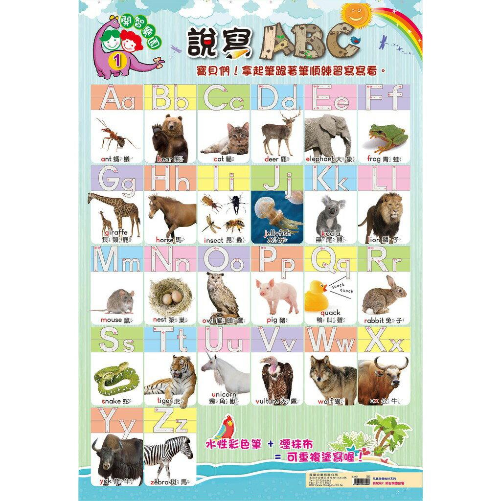 我愛中華 兒童學習海報掛圖 說寫ABC / 數字123 / 大家來學ㄅㄆㄇ 注音學習 / 九九乘法表 / 兒童身高表
