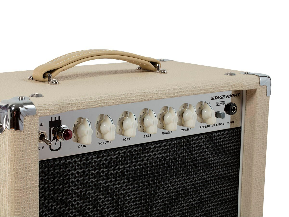 15-Watt, 1x12 Guitar Combo Tube Amplifier with Celestion Speaker and Spring Reverb 4