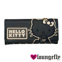 凱蒂貓週邊商品推薦到【Loungefly】Hello Kitty聯名款長夾-奢華黑LFSANWA0608《筑品文創》