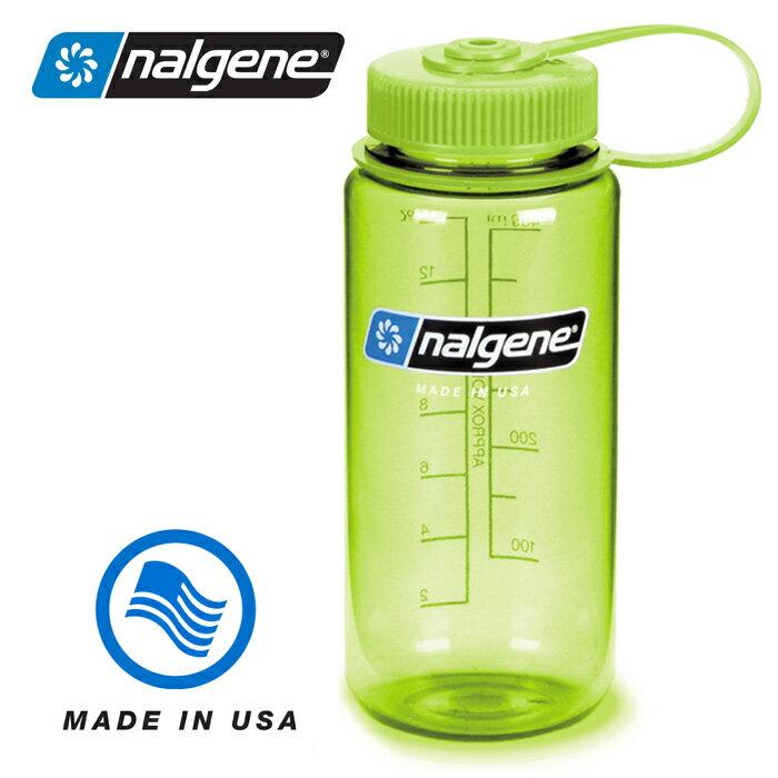 【Nalgene 美國】寬口水壺《春綠色》運動水壺 水瓶 隨身水壺 (682009-0571) 【容量500ml】