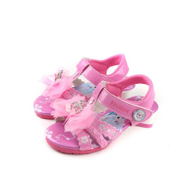 冰雪奇緣 Frozen Elsa Anna 涼鞋 粉紅色 中童 童鞋 FOKT84153