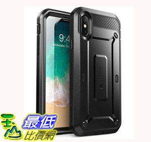 [106美國直購] 手機保護殼 iPhone X Case, SUPCASE Full-body Rugged Holster Case with Built-in Screen Protector