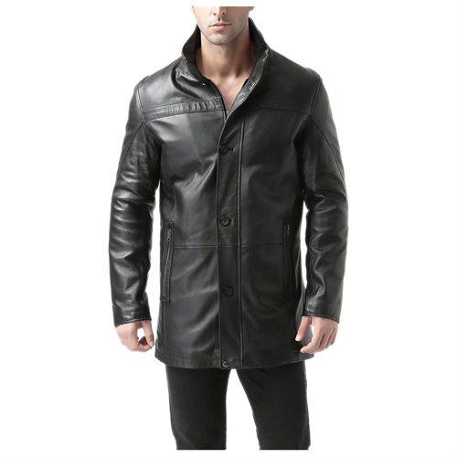 "BGSD Men's ""Chad"" New Zealand Lambskin Leather Car Coat 7eba856462f61752a8d71faf534ea898"