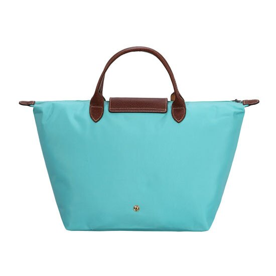 [1623-M號]國外Outlet代購正品 法國巴黎 Longchamp  短柄 購物袋防水尼龍手提肩背水餃包 湖綠色 2