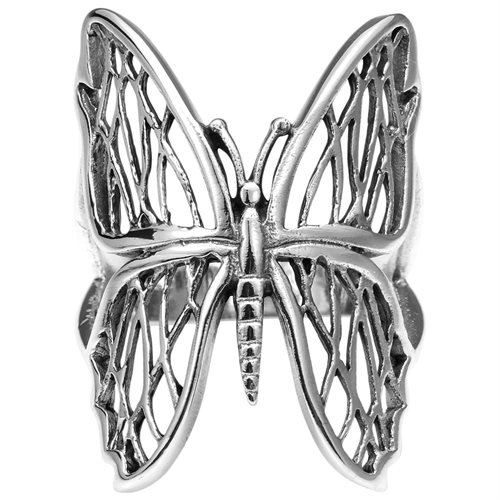 Exotic Wings Wild Butterfly .925 Sterling Silver Ring (Thailand) 0