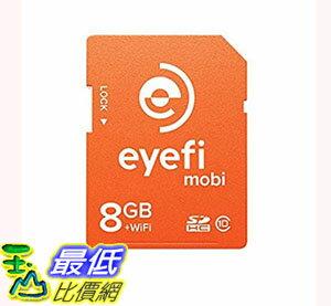 [106美國直購] 存儲卡 Eyefi Mobi 8GB Class 10 Wi-Fi SDHC Card with 90-day Eyefi Cloud Service (Mobi-8)