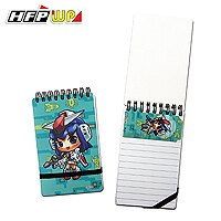 HFPWP  美少女 口袋型筆記本100張內頁附索引尺AIN3351~10 製10本  箱