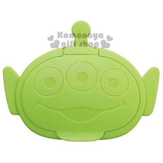 小禮堂 迪士尼 三眼怪 日製造型濕紙巾蓋《淺綠.大臉》可重複使用