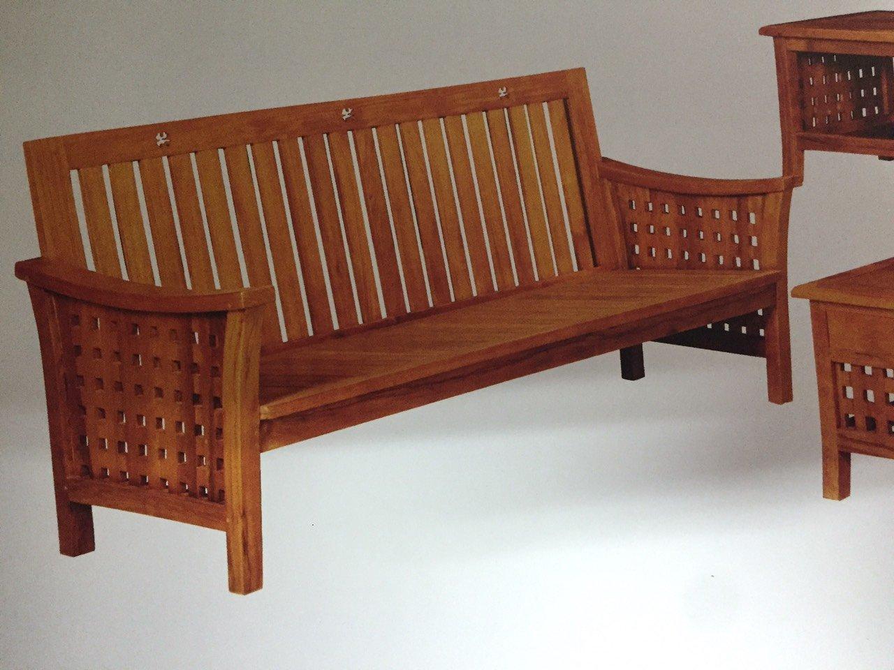 【石川家居】KL-15 柚木方格子組椅 台中以北搭配車趟免運費