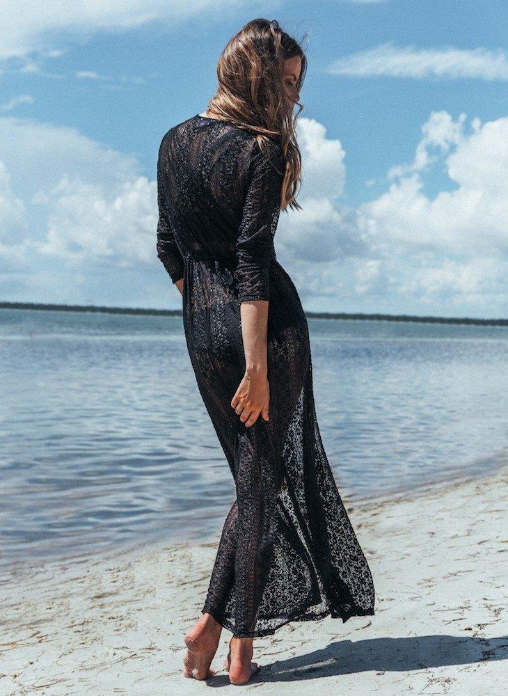 罩衫 蕾絲 緹花 長裙 開襟 長袖 沙灘 比基尼 罩衫【ZS199】 BOBI  04 / 26 8