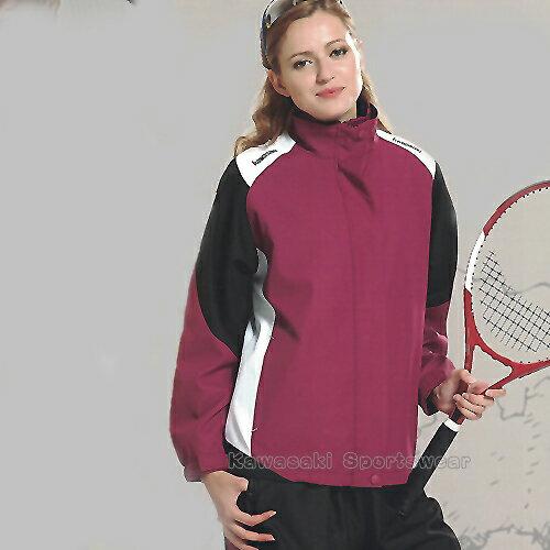 【日本Kawasaki】女版休閒功能性二件式網裡外套(深紫)#KW2103A - 限時優惠好康折扣