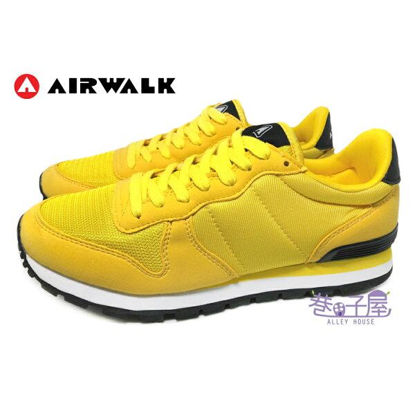 巷子屋:【巷子屋】AIRWALK男款經典耐磨復古慢跑鞋[55562]黃超值價$498【單筆消費滿1000元全會員結帳輸入序號『CNY100』↘折100】