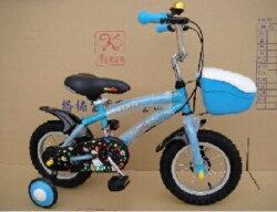 【格楠腳踏車-全台製】12吋腳踏車/三輪車 藍色【紫貝殼】