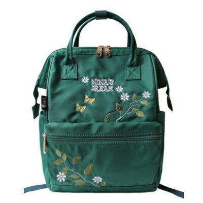 後背包刺繡雙肩包-清新唯美蝴蝶花朵女包包2色73sr3【獨家進口】【米蘭精品】