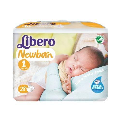 『121婦嬰用品館』麗貝樂 Libero 嬰兒尿褲(尿布) NB初生型 1號 28片x4包/箱