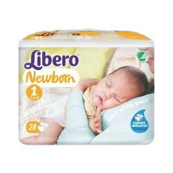麗貝樂 Libero 嬰兒紙尿褲NB(初生型) 1號-28片x4包(尿布)#7736★衛立兒生活館★