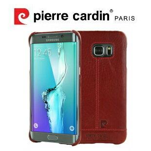 [ Samsung S7 ] Pierre Cardin法國皮爾卡登高級牛皮品牌經典不敗款真皮手機殼/保護殼 紅色