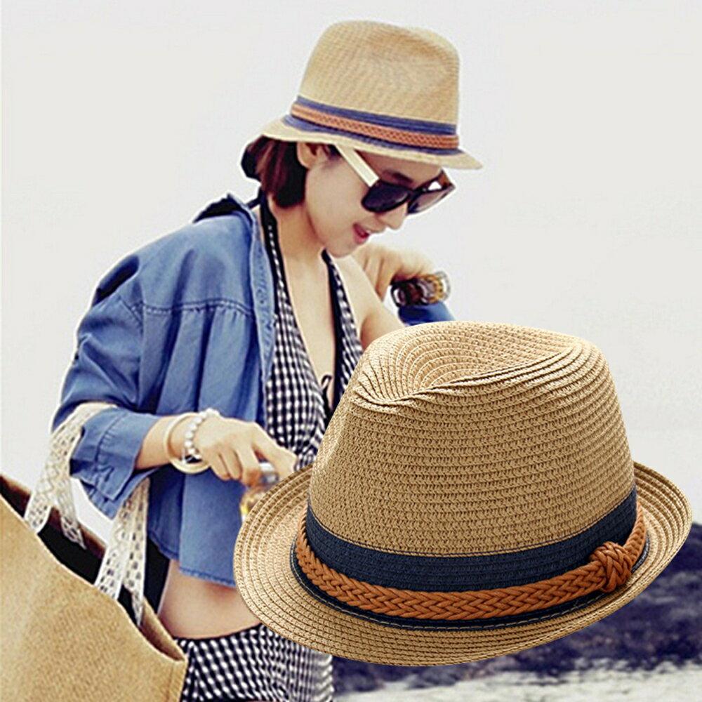 草帽女夏天韓版禮帽潮百搭遮陽帽防曬太陽帽沙灘草帽親子兒童帽子林之舍家居