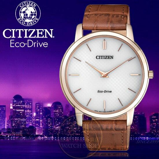 CITIZEN日本星辰Eco-Drive極簡美學超薄光動能紳士腕錶AR1133-15A公司貨