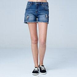 Lee 牛仔短褲-深藍色洗水