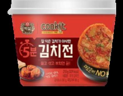 韓國 CJ COOKIT 5分鐘上桌 韓式泡菜煎餅 210g - 限時優惠好康折扣