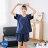 小清新流行居家服 純棉短袖短褲睡衣 直條紋家居服 休閒套裝 共兩色M-XL【漫時光】(87041L) 0
