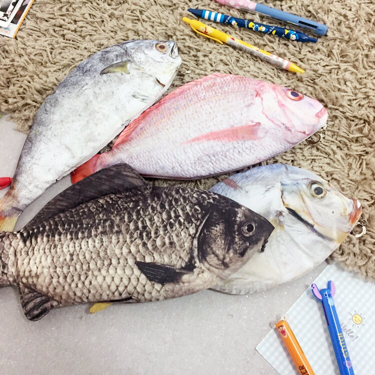 PGS7 其他卡通系列商品 - 搞怪 趣味 菜市場 魚 筆袋 鉛筆盒【SHZ7433】 - 限時優惠好康折扣