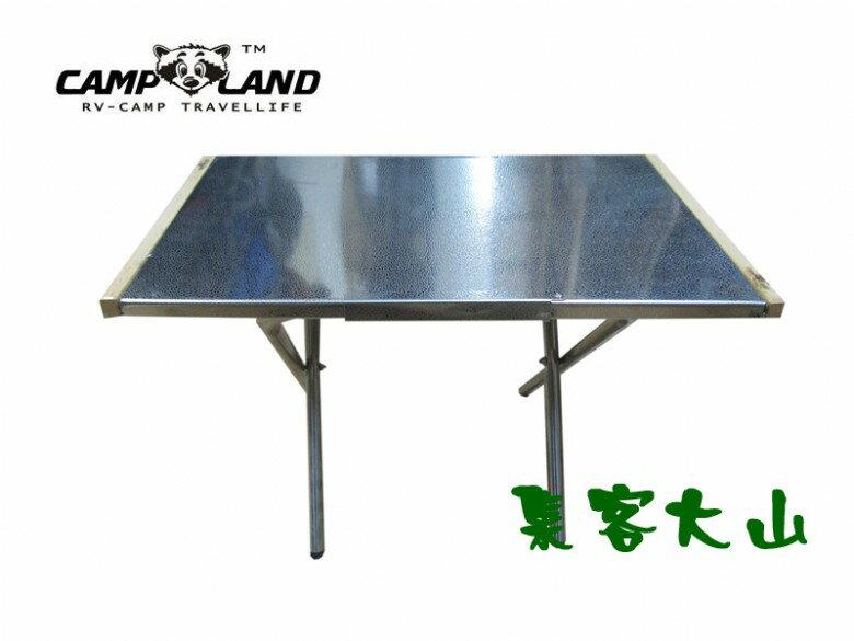 【露營趣】中和 CAMP LAND RV-ST800 不鏽鋼便利桌 摺疊桌 小茶几 休閒桌 小折桌