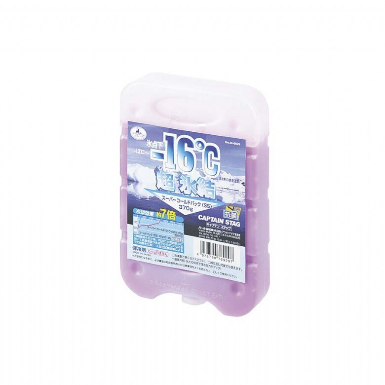 【露營趣】中和 日本 鹿牌 Captain Stag M-6929 -16℃抗菌超凍媒 SS 冰磚 冷凍磚 保冰劑 保冷劑 冰桶用