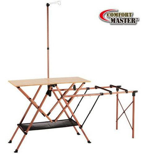 【露營趣】中和 美國 Coleman 極致品味 舒適達人廚房桌 摺疊桌 休閒桌 行動廚房 料理桌 流理台 CM-7680