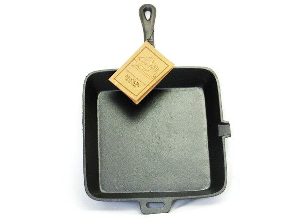 【露營趣】中和美國OldMountainSQ方形鑄鐵長柄煎鍋10.5吋平底鍋煎鍋烤盤鑄鐵鍋10107