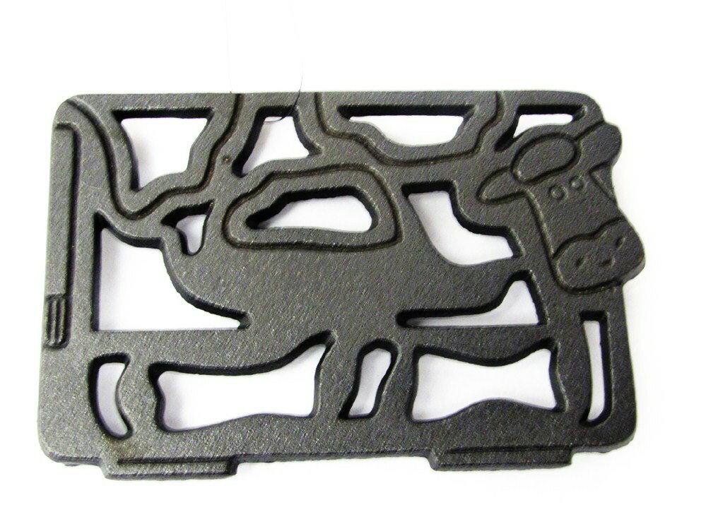 【露營趣】中和 美國 Old Mountain CT鑄鐵乳牛造型隔熱墊 鑄鐵炭床 荷蘭鍋架 10190
