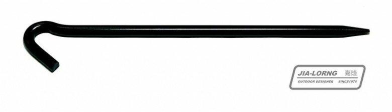 【暫缺貨】中和 嘉隆 短大釘 大黑釘 營釘(24cm) 天幕帳 客廳帳可用 R-02