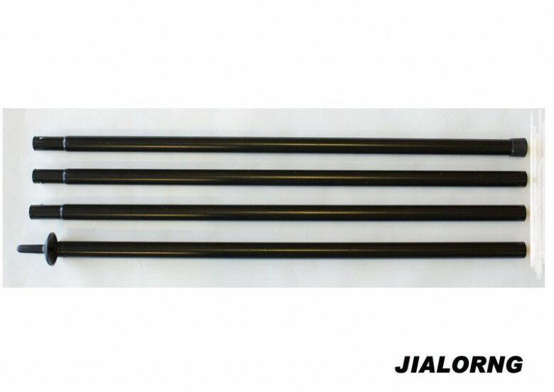 【露營趣】中和 嘉隆 TP-128 280cm-25mm 天幕帳 炊事帳 鐵製組合營柱 鐵柱