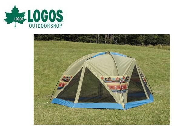 【露營趣】中和 日本 LOGOS 收納輕巧印地安家庭網屋 客廳帳 派對帳 海灘遮陽帳 LG71806504