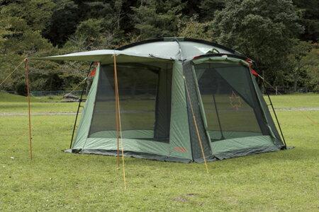 【露營趣】LOGOS LG71807001 Neos綠楓320帳 客廳帳 網屋 炊事帳 遮陽帳篷