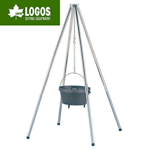 【露營趣】中和 日本 LOGOS LG81063116 荷蘭鍋四角吊鍋架 不鏽鋼吊鍋架 荷蘭鍋吊架 吊鍋架 非snow peak