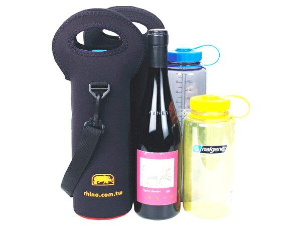【露營趣】中和 犀牛 RHINO 318 紅酒、香檳/水壼 保溫套 保冰保溫 酒瓶袋 酒瓶套 水壺套 酒瓶提袋