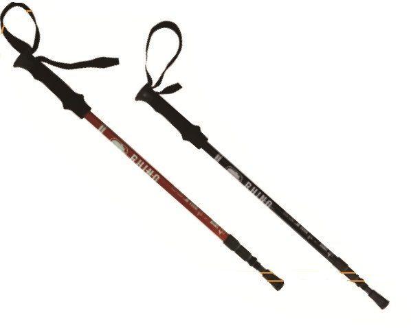 【露營趣】犀牛RHINO 786超輕碳纖維登山杖 EVA泡棉舒適握把 鎢鋼杖尖 三節避震登山杖