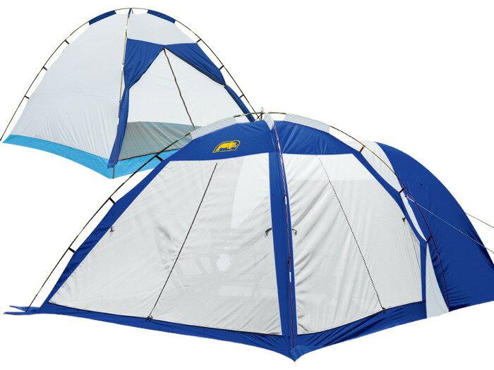 【露營趣】送睡墊 犀牛 RHINO A-6 六人雙峰帳 6人帳 六人帳篷 大帳棚 家庭帳 露營帳篷