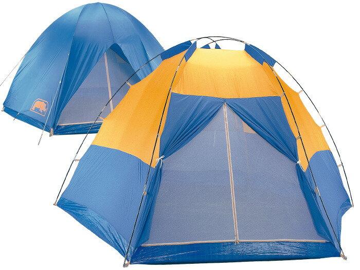 【露營趣】中和 送鋁箔墊手電筒 台製 犀牛 RHINO A-600 六至八人掛鉤豪華帳篷 六人帳 八人帳 露營帳篷 家庭帳篷