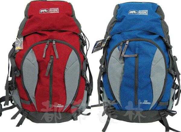 【露營趣】中和安坑 犀牛 RHINO G146 透氣網架背包 登山背包 背包客 自助旅行背包 登山包 旅遊背包